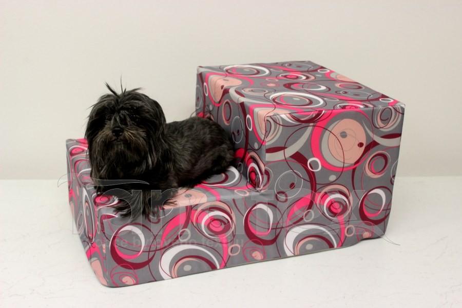 Schody pro psa Elipsy růžové