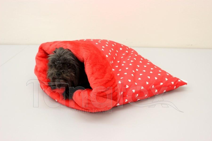 Chumlací pytel - malý Srdíčka v červené