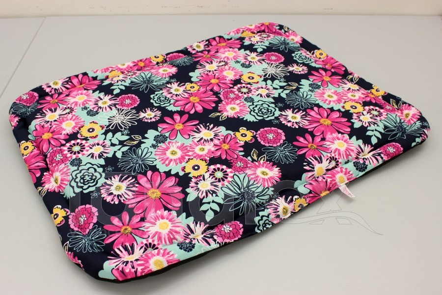 Lehká omyvatelná podložka - cca 49x33 - Růžovotyrkysové květy