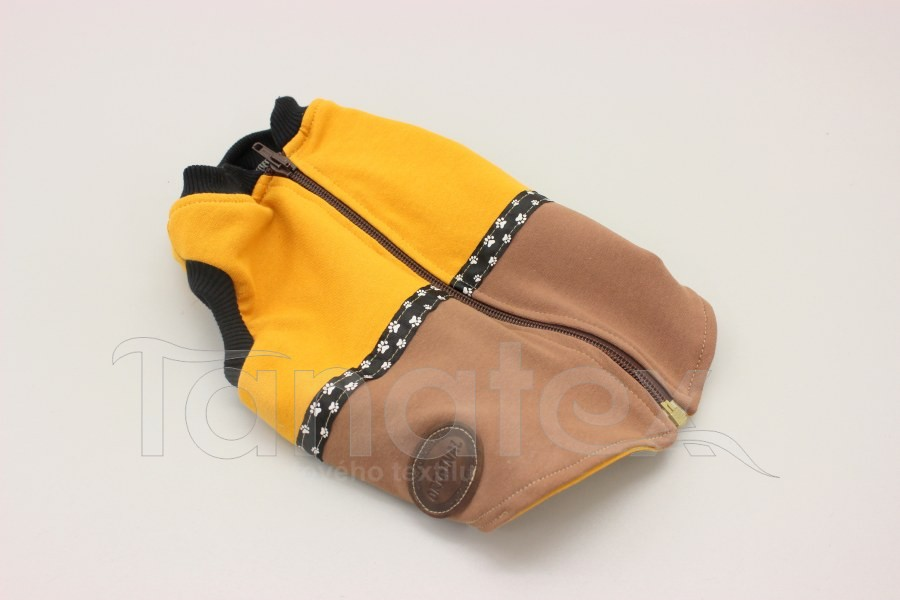 Obleček pro psa - vesta dvoubarevná - velikost 4