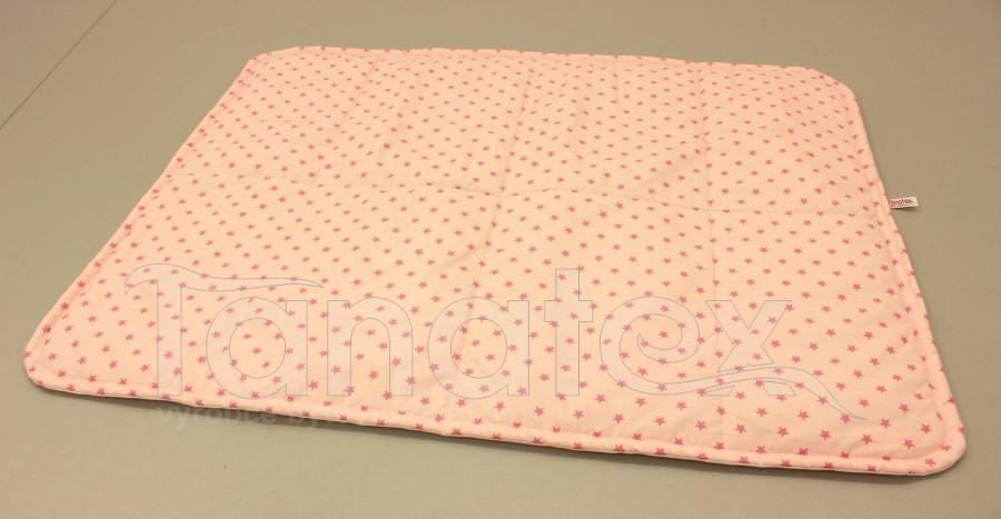 Pratelná podložka - růžové hvězdičky na  růžovém