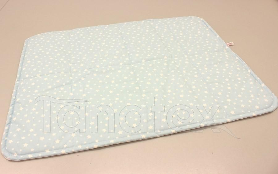 Pratelná podložka - bílé hvězdičky na modrém