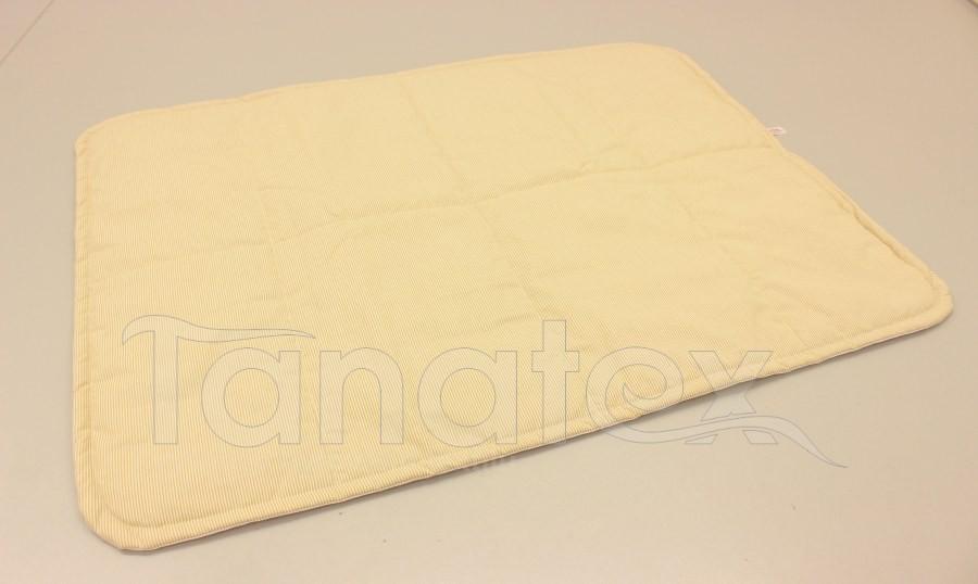 Pratelná podložka - béžové tenké proužky
