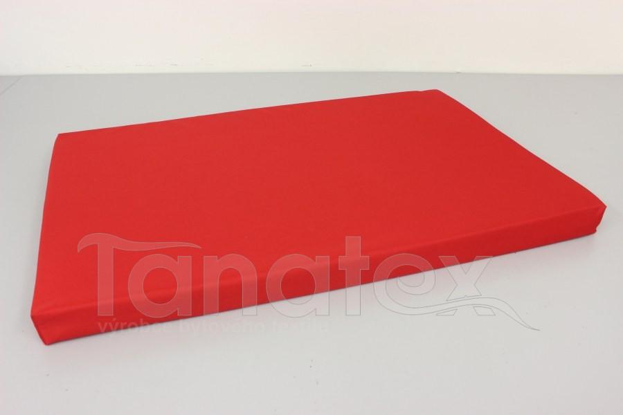 Vyšší podložka - 60x90cm uni červená