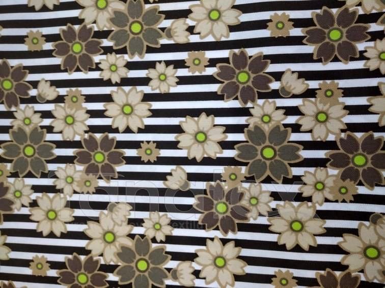 Vyšší podložka - 40x60cm Béžové květy v pruzích