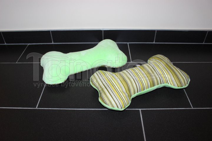 Polštářek kostička - zelená s pruhy