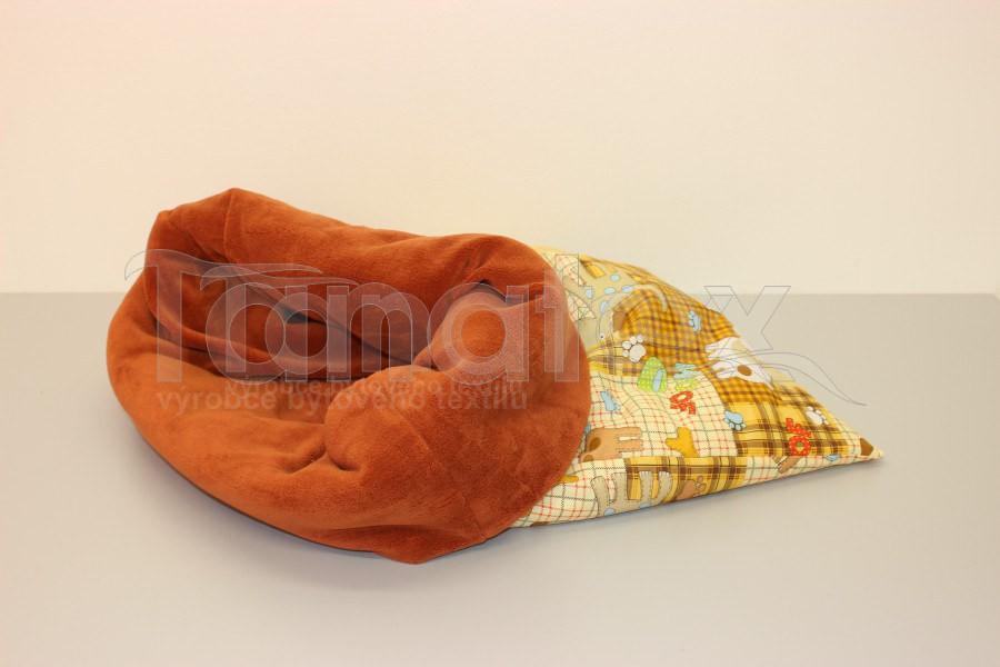 Chumlací pytel - malý Pejsek a kostička s rezavou